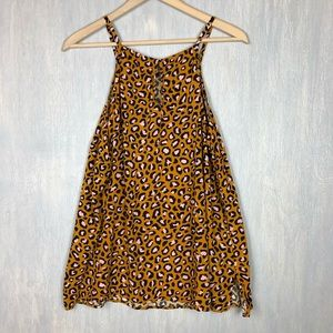 Old Navy Tops - 🌟 Old Navy leopard print tank top XL gold pink